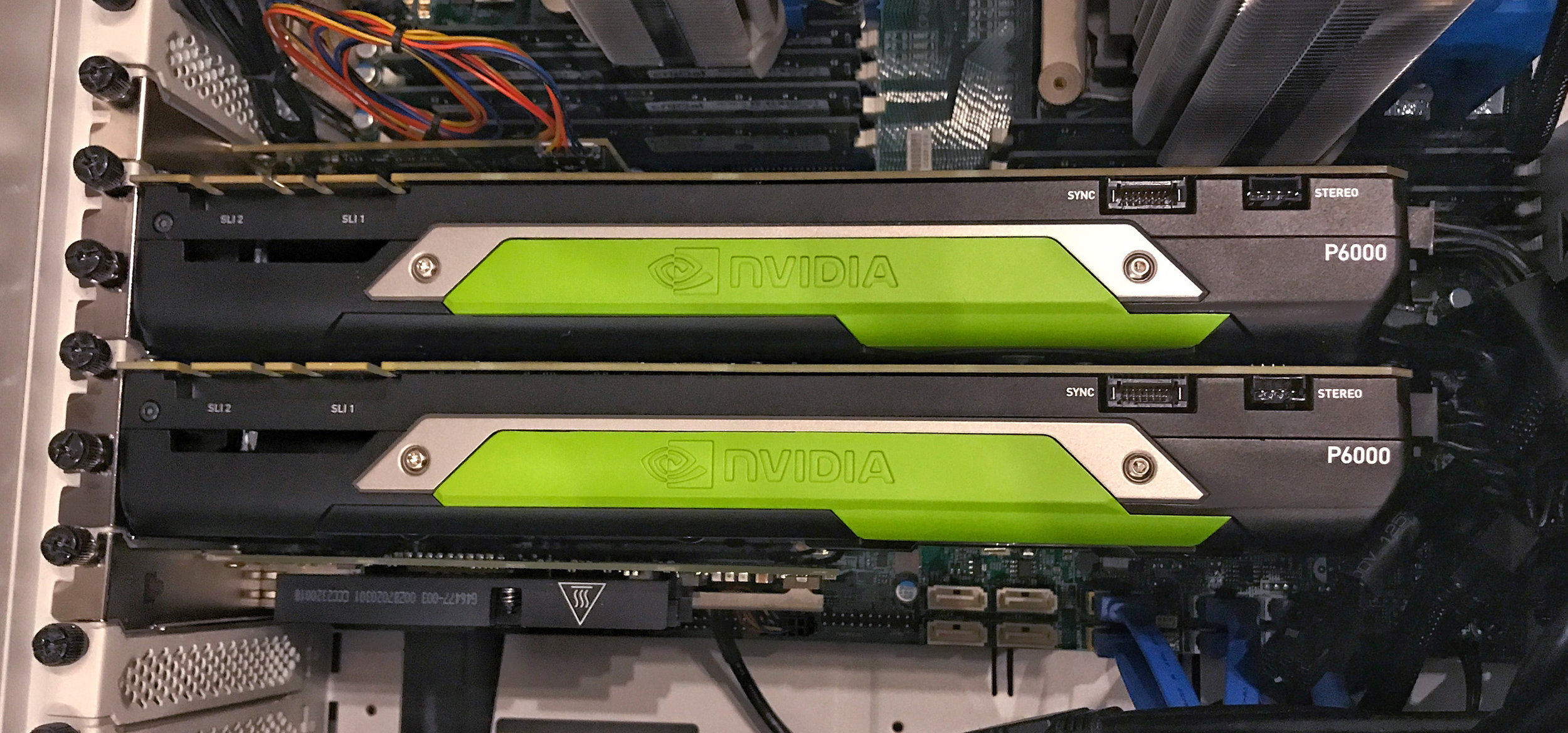 Nvidia Quadro P6000s in our Windows-based Render Rig