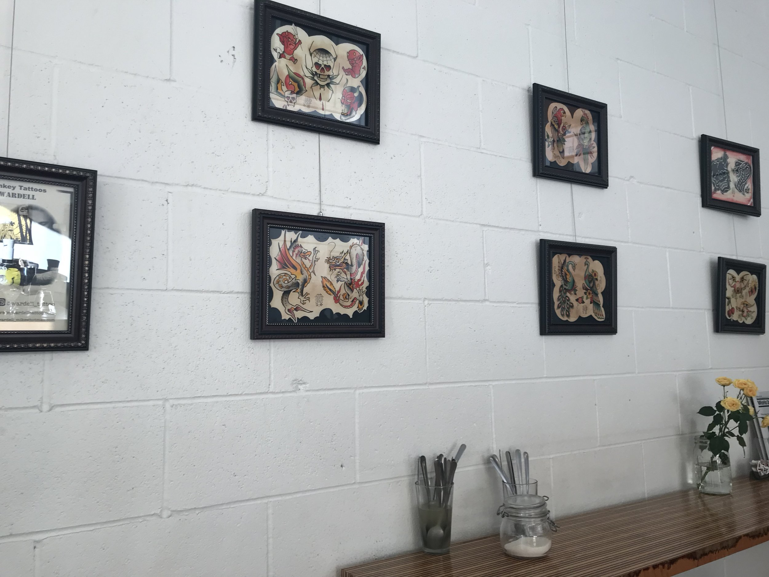 My art show, currently on display at Bar Francis located at 110 Franklin St. in downtown Olympia.