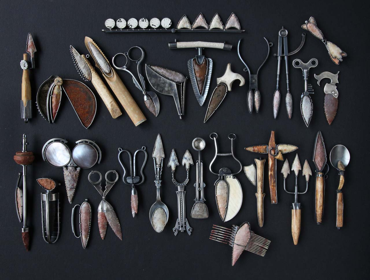 KIFF SLEMMONS'S TOOLS, gathered together here, were housed in a machinist's toolbox for display.