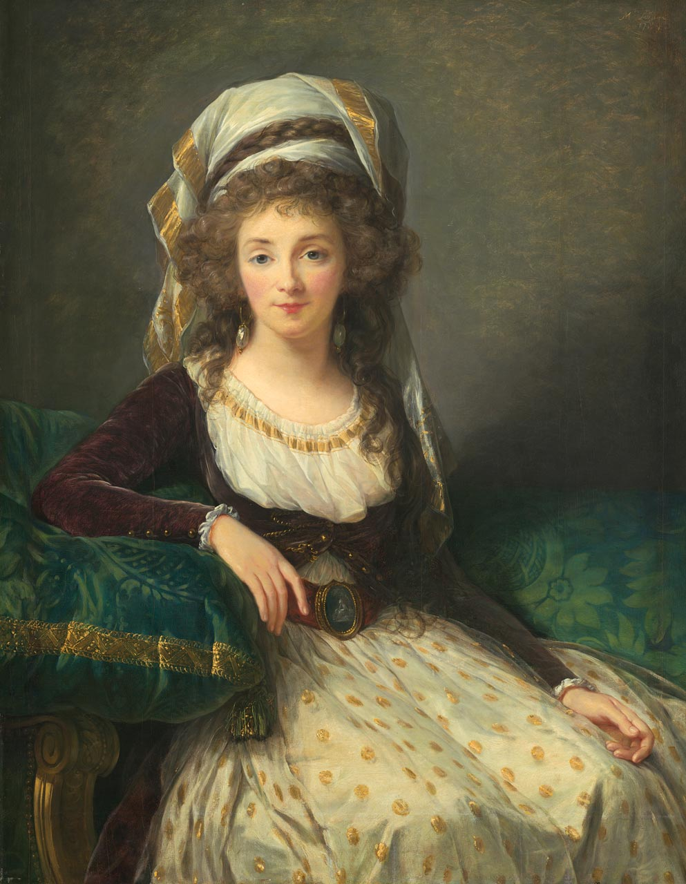MADAME D'AGUESSEAU DE FRESNES by Elisabeth-Louise Vigée-LeBrun, 1789 . Courtesy of National Gallery of Art, Washington, D.C. Samuel H. Kress Collection (1946.7.16).