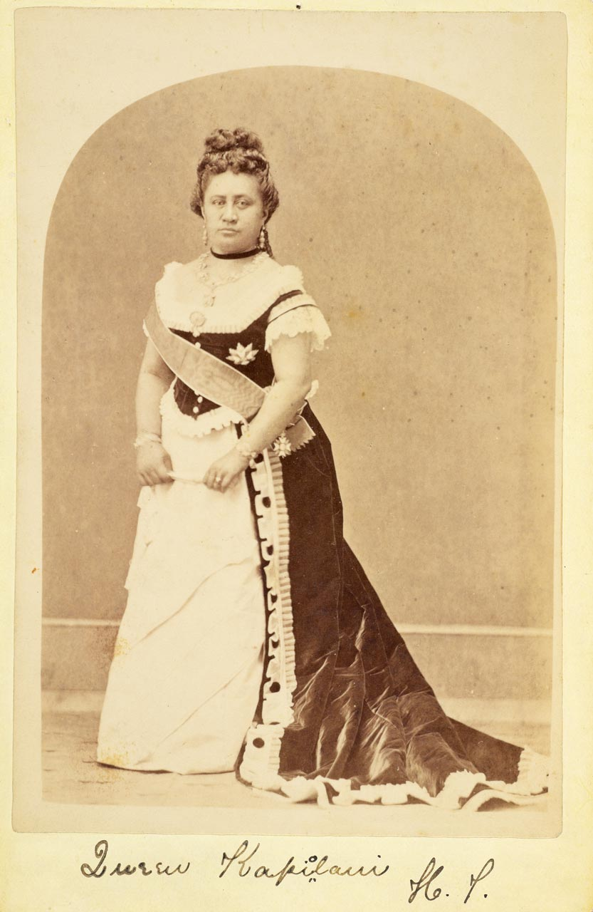 QUEEN KAPI'OLANI.  Photographer unknown. Achenbach Foundation for Graphic Arts. Fine Arts Museums of San Francisco Collection.