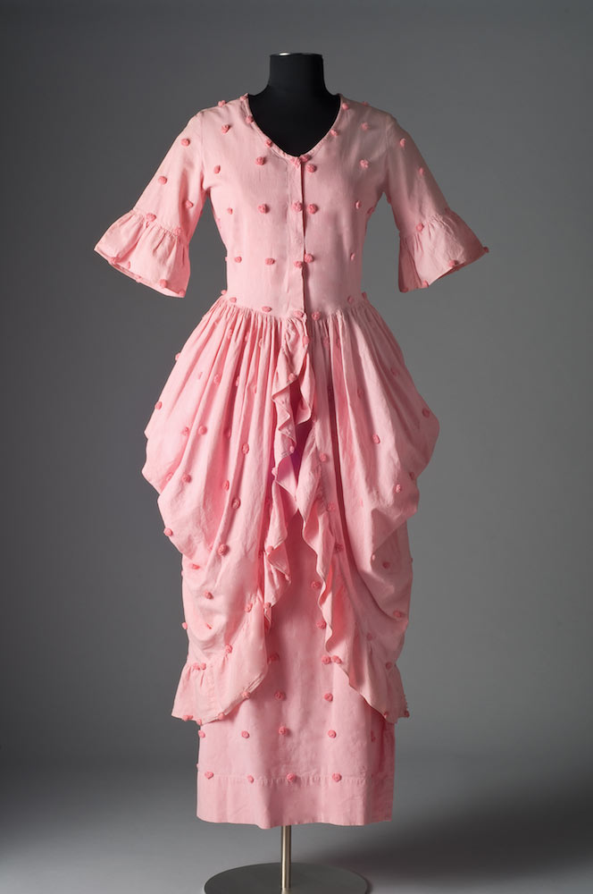 CANDLEWICK COTTON DRESS, circa 1930s.  Photograph by Michael McKelvey. Collection of Bradley Putnam.