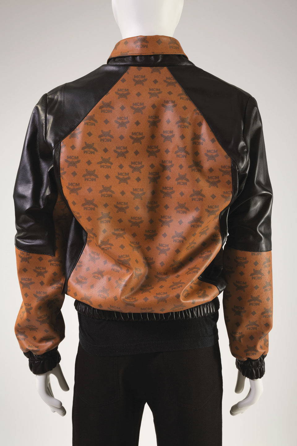 JACKET by Dapper Dan of Harlem of High-Tek Leather (faux leather, lambskin leather), 1987.