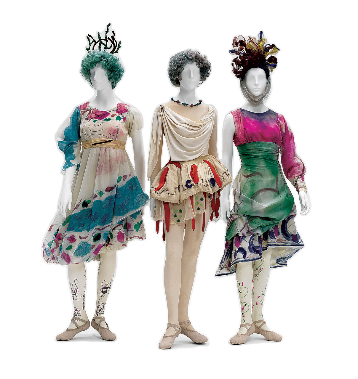 "COSTUMES FOR ""DAPHNIS AND CHLOÉ"": Shepherdesses, 1959.  Opéra National de Paris."