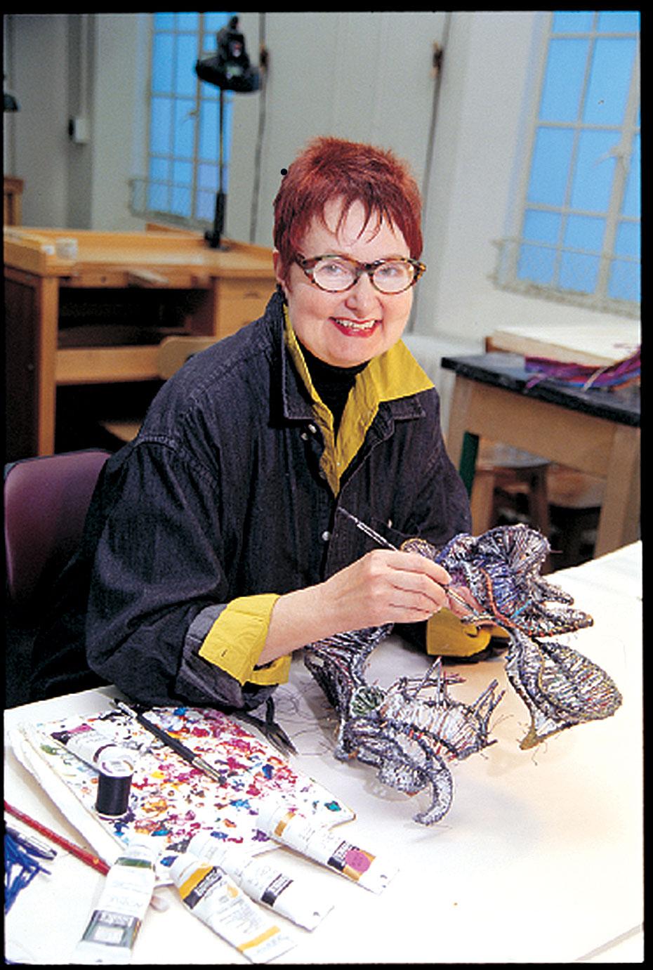 MARJORIE SCHICK in her Pittsburg State University studio.