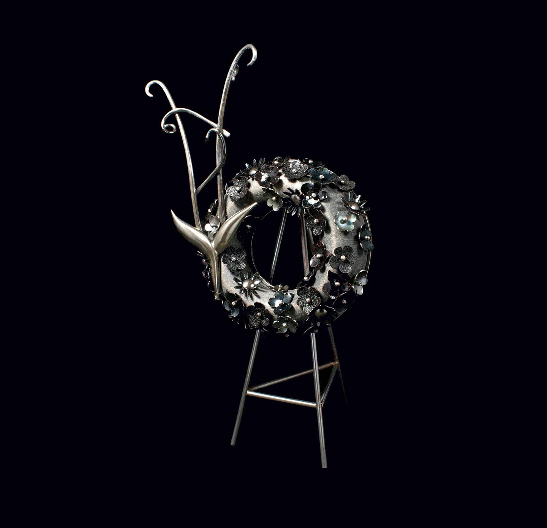 ADRIENNE GRAFTON: Beloved Mother of silver, copper, steel, vitreous enamel, birchwood.