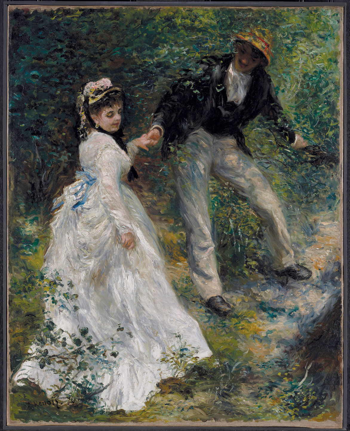 LA PROMENADE by Pierre-Auguste Renoir, French, of oil on canvas, 1870.  Courtesy of   the J. Paul Getty Museum.