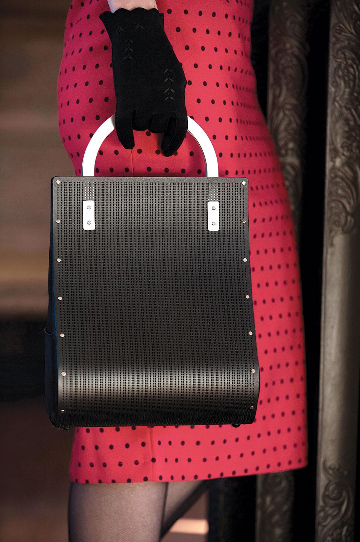SHOPPING BAG.  Model: Kimberly Scola. Photograph by Miana Jun.