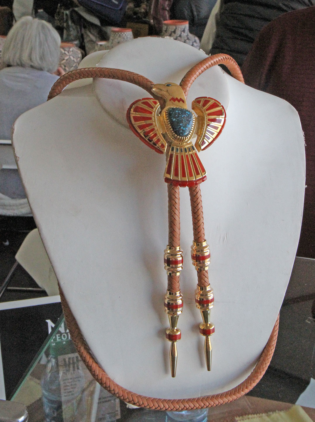 AWARD WINNING BOLO TIE by Vernon Haskie. Haskie's bolo tie won First Place in the Jewelry and Lapidary J category.