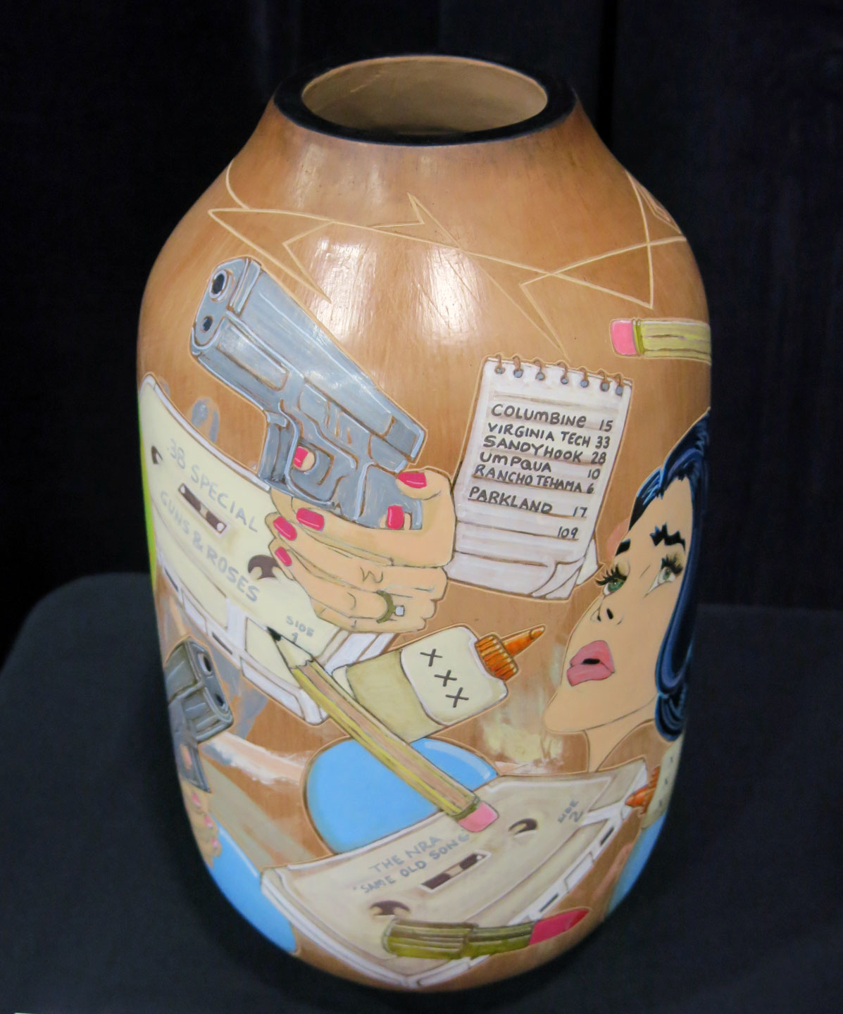VESSEL by Susan L. Folwell (Santa Clara Pueblo), who won the Judge's Award in Pottery from Ellen Taubman.
