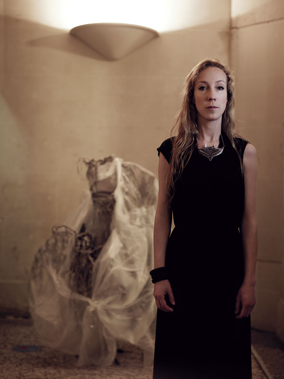IRIS VAN HERPEN.  Photograph courtesy of Jean Baptiste Mondino, Iris van Herpen and the Phoenix Art Museum.