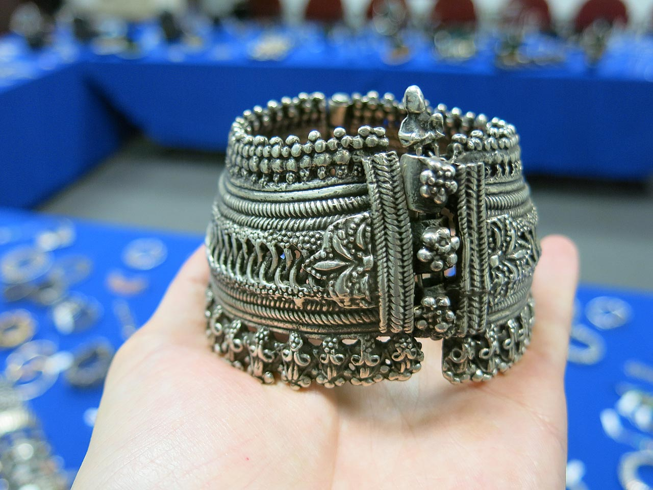 Traditional silver bracelet.