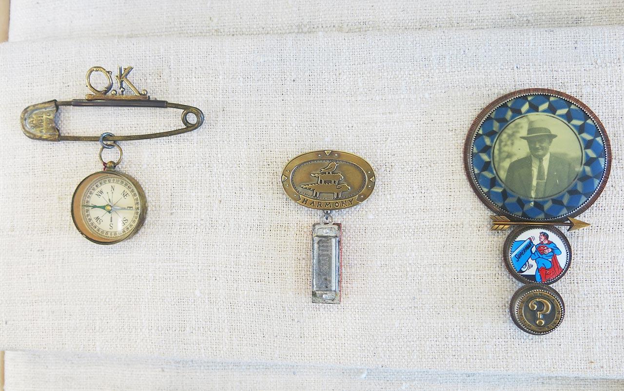 Pins by Roberta and David Williamson.