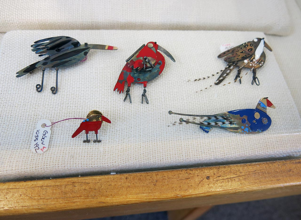 Brooches by Gabrielle Gould.