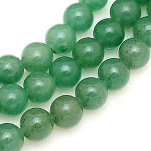 Green aventurine beads. CW