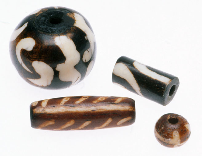 African and Indian batik bone beads. RKL