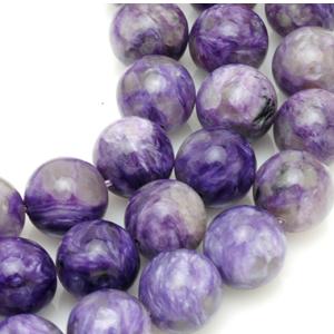 Charoite beads. CW