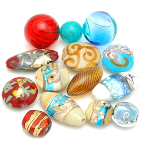 Contemporary Chinese glass beads, which are completely different from vintage Chinese glass. CW
