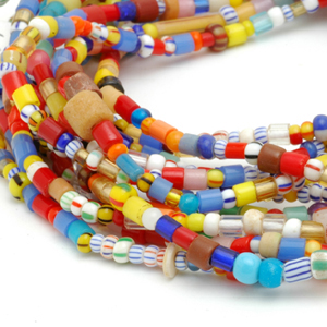 """African """"Christmas beads."""" CW"""