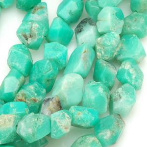 Australian chrysoprase beads. CW