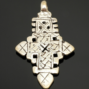 Ethiopian Coptic cross pendant. CW