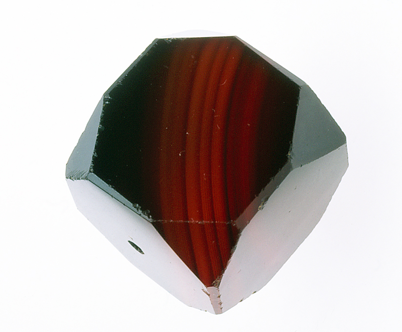 Carnelian cornerless cube made in Idar-Oberstein for the African trade. RKL
