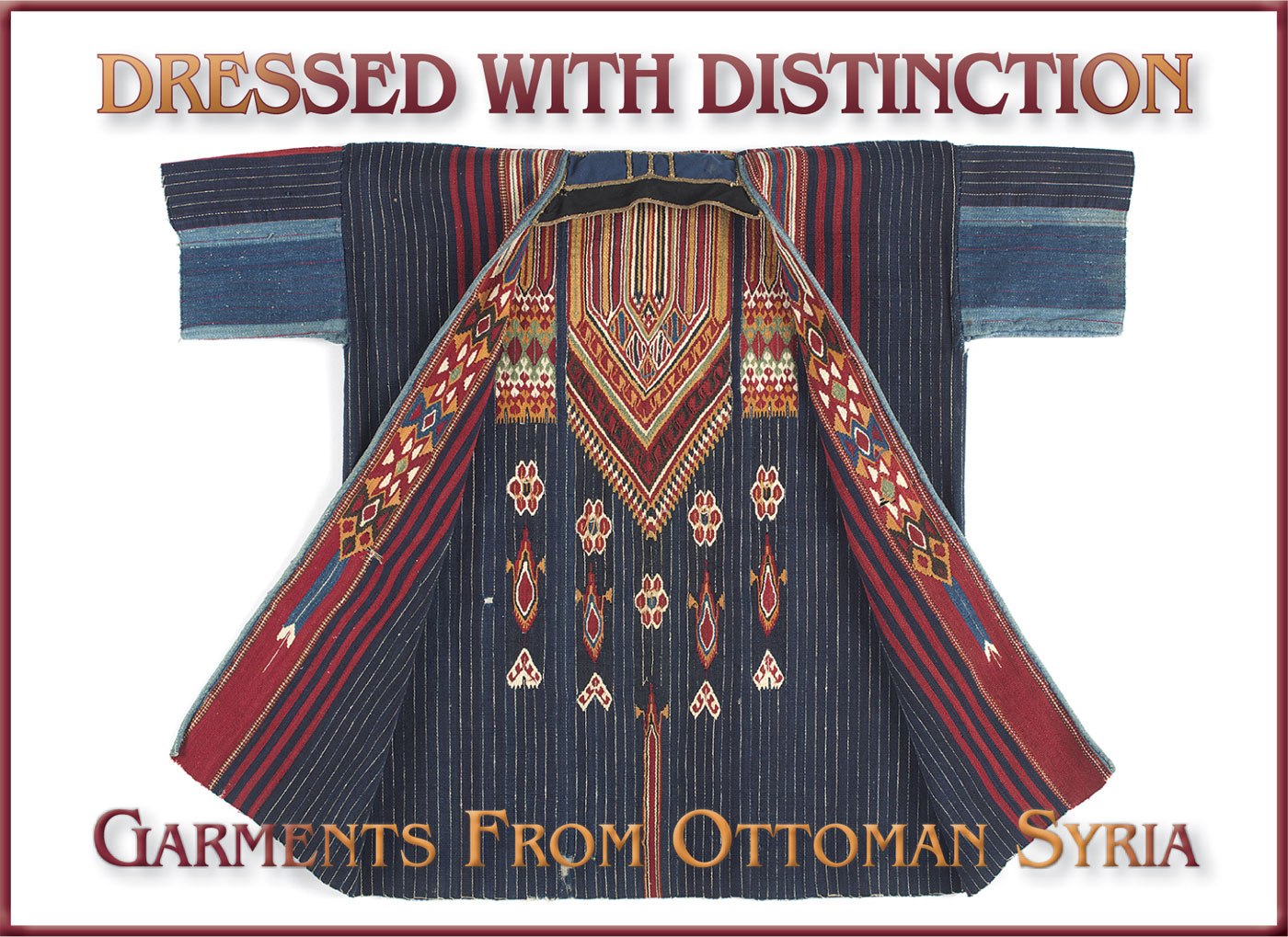 MAN'S COAT ( damir ) of wool, cotton, metallic thread, weft-faced weave, slit tapestry technique, handsewn, Bedouin peoples, Damascus, Ottoman Syria, late nineteenth to early twentieth century.  Photographs courtesy of the Fowler Museum at UCLA.