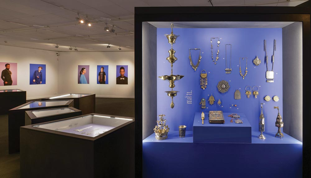 "EXHIBITION INSTALLATION  for ""Jewelry Making: Past & Present"" at the Museum for Islamic Art."