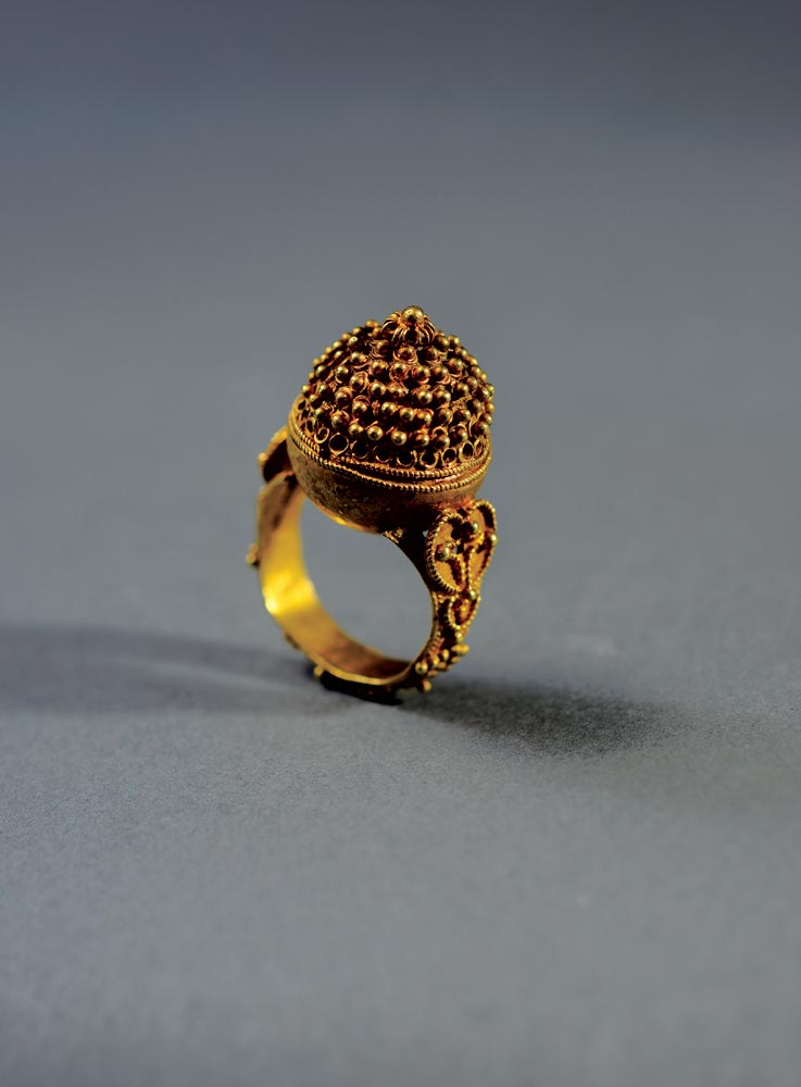 RING  of brass, West Africa, nineteenth century.  Photograph by Shay Ben Efraim.