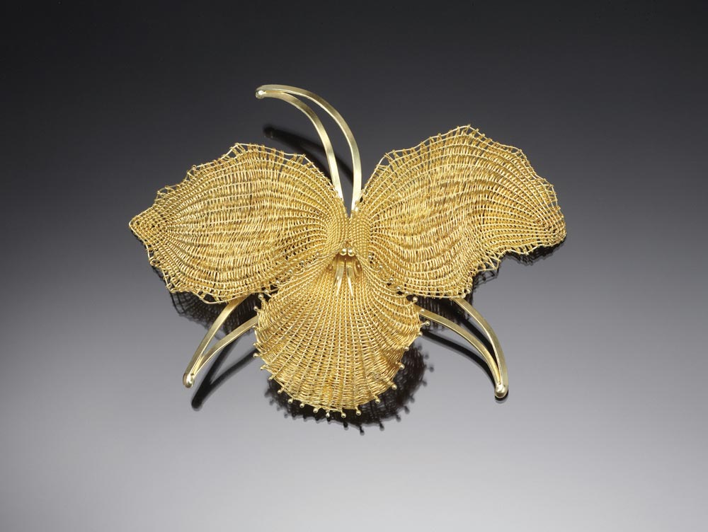 FULLER CRAFT MUSEUM:  Mary Lee Hu, Orchid.