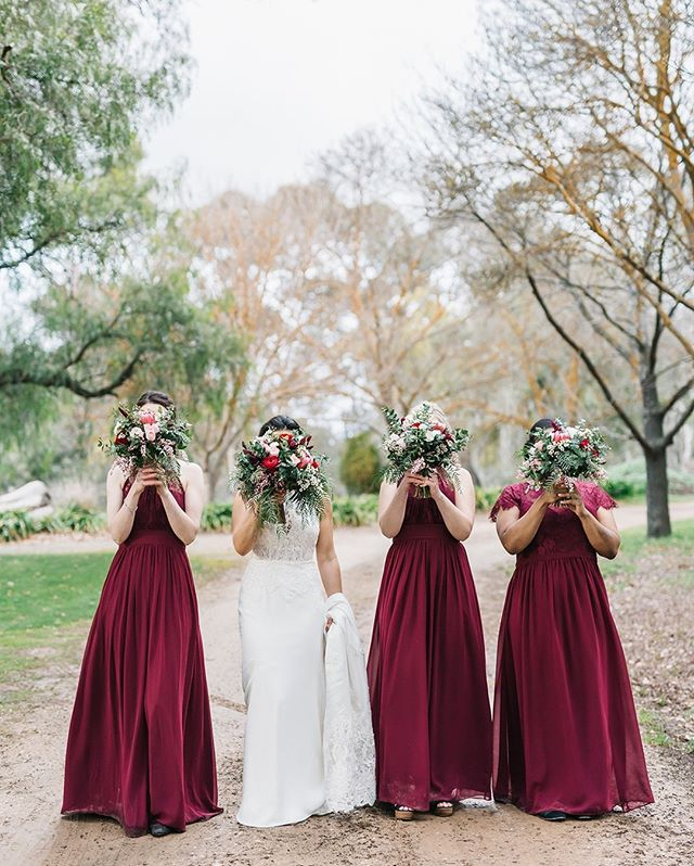 Hide and seek champions.  #bridesmaids #bouquet #bridetribe #bride #weddingphotography #love #ido #sydneyweddingphotographer