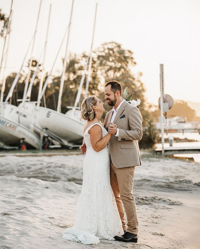 Sarah & Ben's elegant coastal wedding at Noosa waterfront. Having a little practice of their first dance as the sun sets. Had such a blast shooting this wedding and a lovely time away in Noosa. Hit me up for a destination wedding bookings!