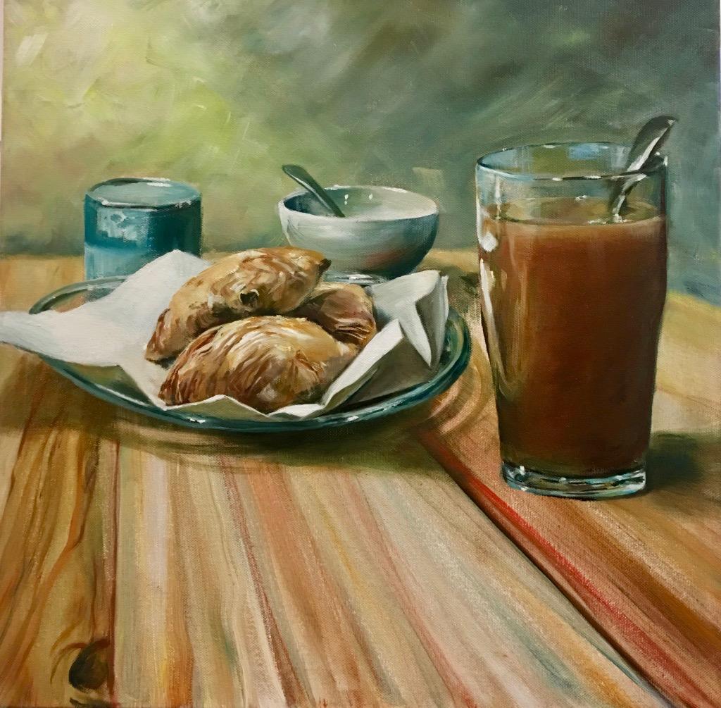 Te fit-Tazza, Oils on Canvas, 50x50cm