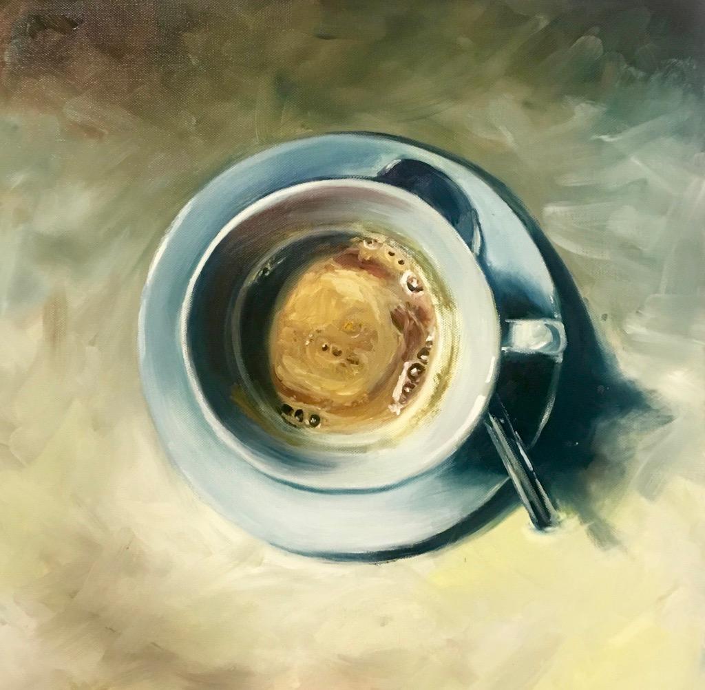 Buongiorno, Oils on Canvas, 50x50cm