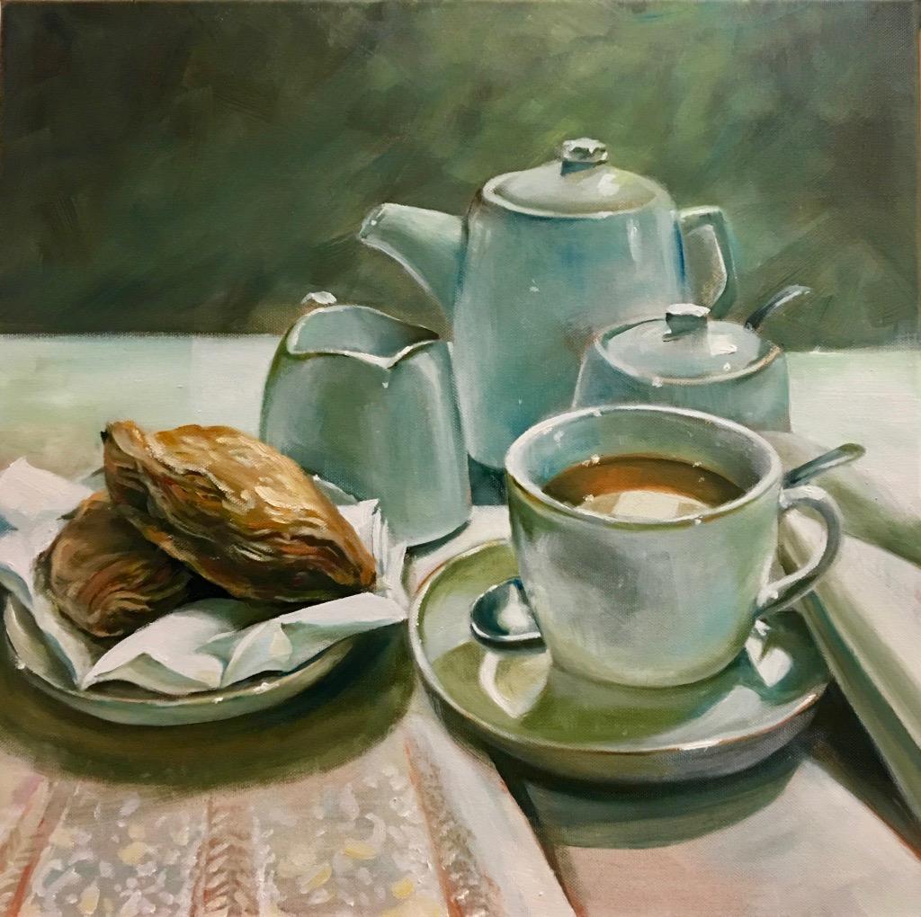 Posh Tea, Oils on Canvas, 50x50cm
