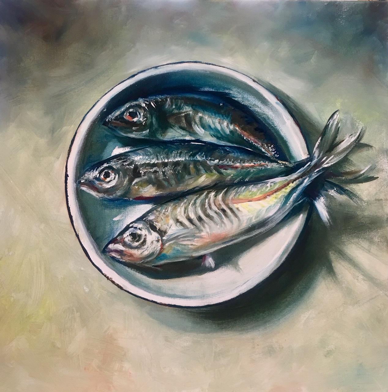 Sawrell, Oils on Canvas, 50x50cm