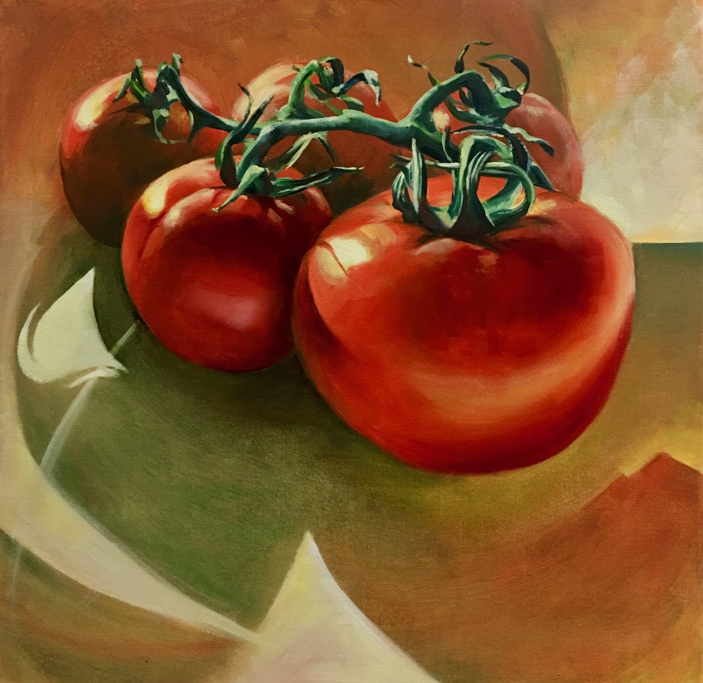 Bunch Tomatoes, Oils on Canvas, 50x50cm