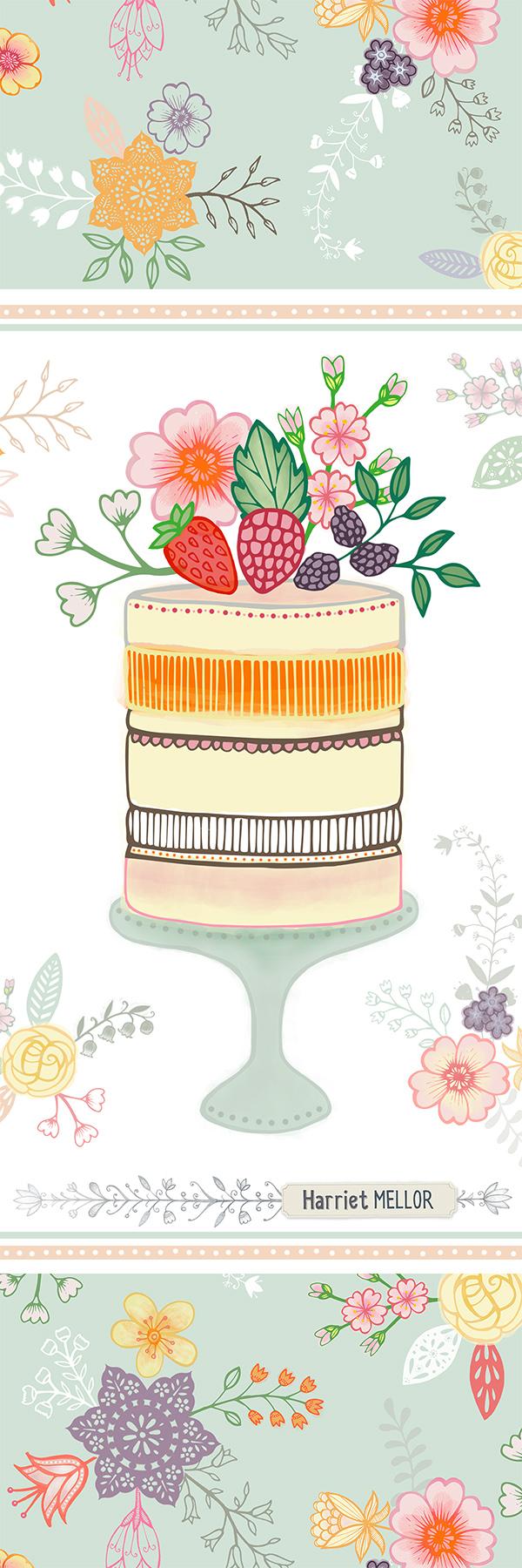 Harriet Mellor fruit cake tall pin