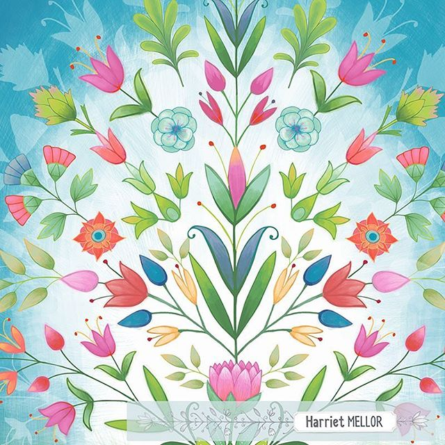 I had to cancel my trip to New York this month for Blueprint. Wishing everyone taking part a successful show and a wonderful time! In the mean time I have new work available for licensing (link in bio) - this is part of a new collection.  #illustration #flowers #blumen #artlicensing #floralillustration #flowerstagram #inspiredaily #dscolor #flashesofdelight #harrietmellor