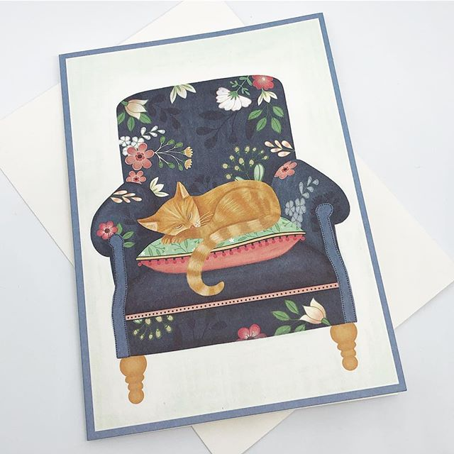 I know a lot of people are not feeling the best right now with various New Year coughs and colds. Sending you best wishes if you are under the weather ! Here is one of my designs licensed as a get well card - available in the USA... #greetingscard #getwellsoon #artlicensing #cat #sleepingcat #relax #selfcare #illustration #creativityfound #surfacedesign #harrietmellor
