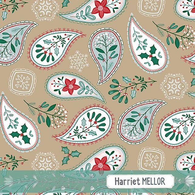 Christmas paisley #christmas #paisley #surfacepattern #artdaily #pattern #holidaydecor #creativityfound #inspireddaily #winterfloral #dsfloral #prettyflorals #harrietmellor