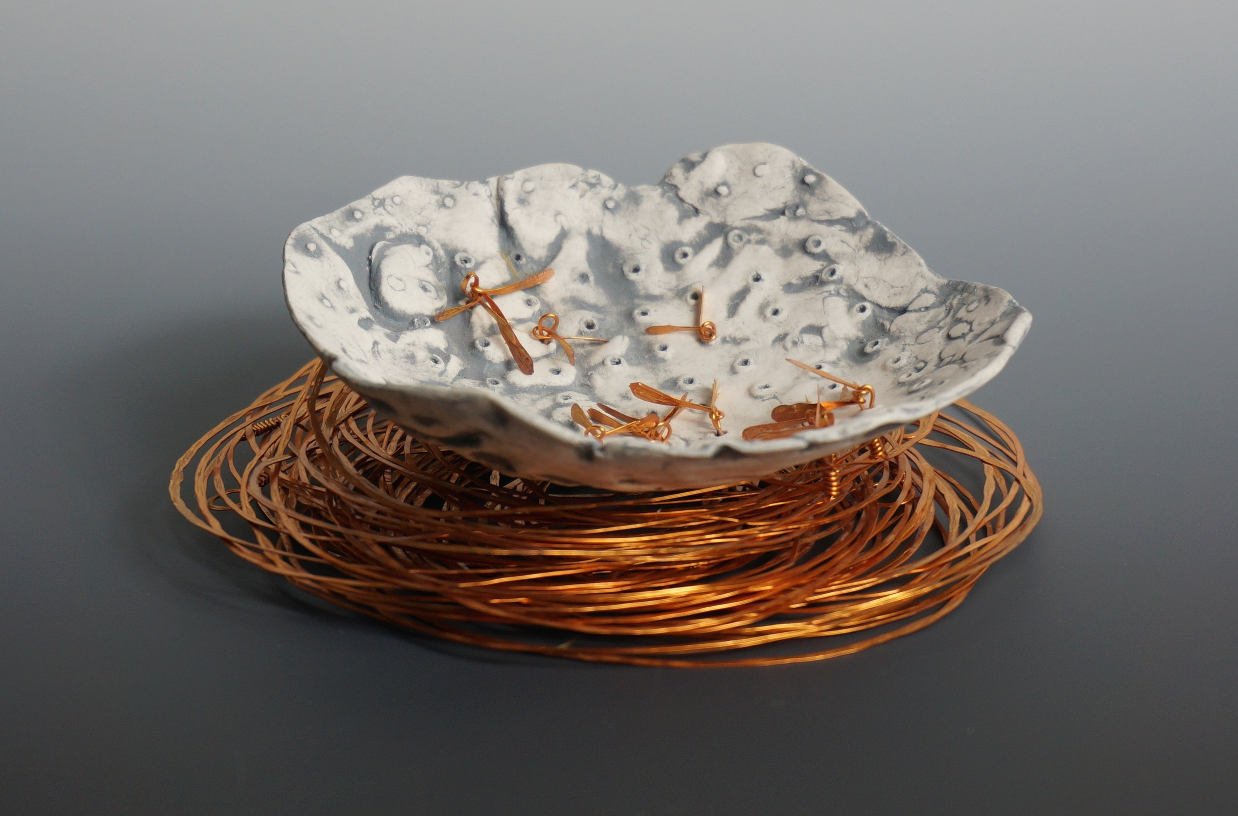 'SPRUNG'   copper and porcelain. jan goodey