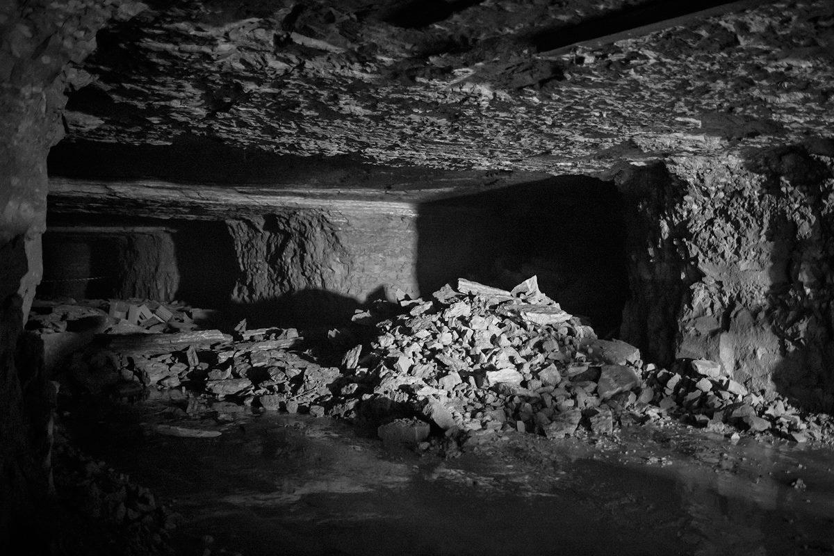 Caved-in Roof in Viru Mine