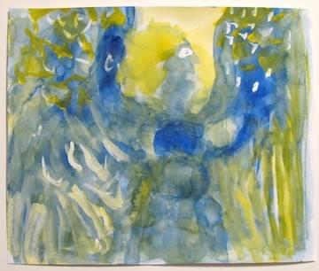 """Hark"""", watercolor on paper, 13 7/8"""" x 16 3/4"""
