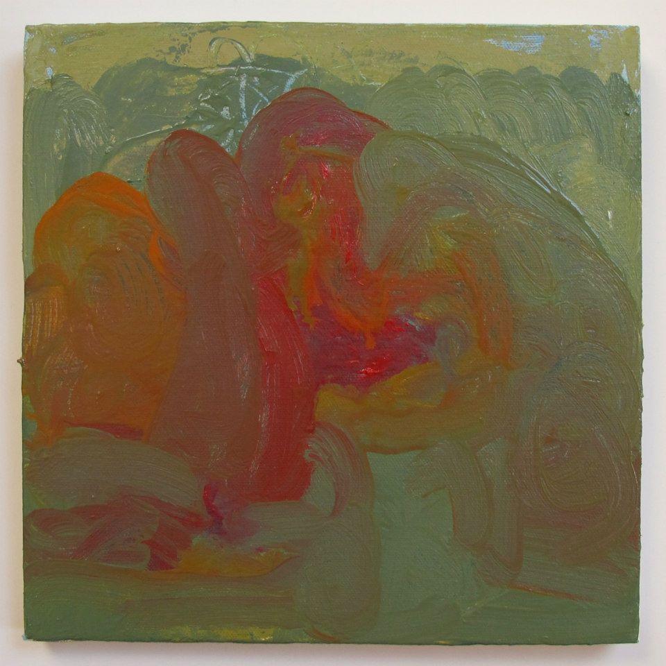 """Sleeping Mountain, oil on canvas, 10"""" x 10"""""""