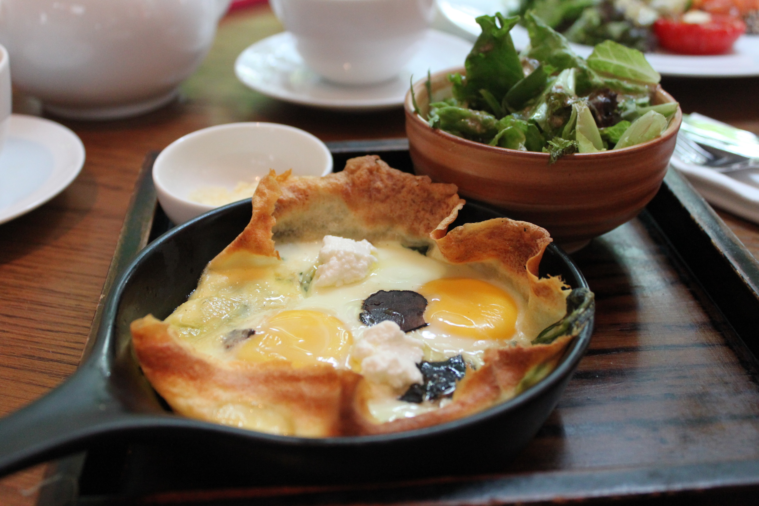 If you're looking for an eggy-crepe, this is a winner.
