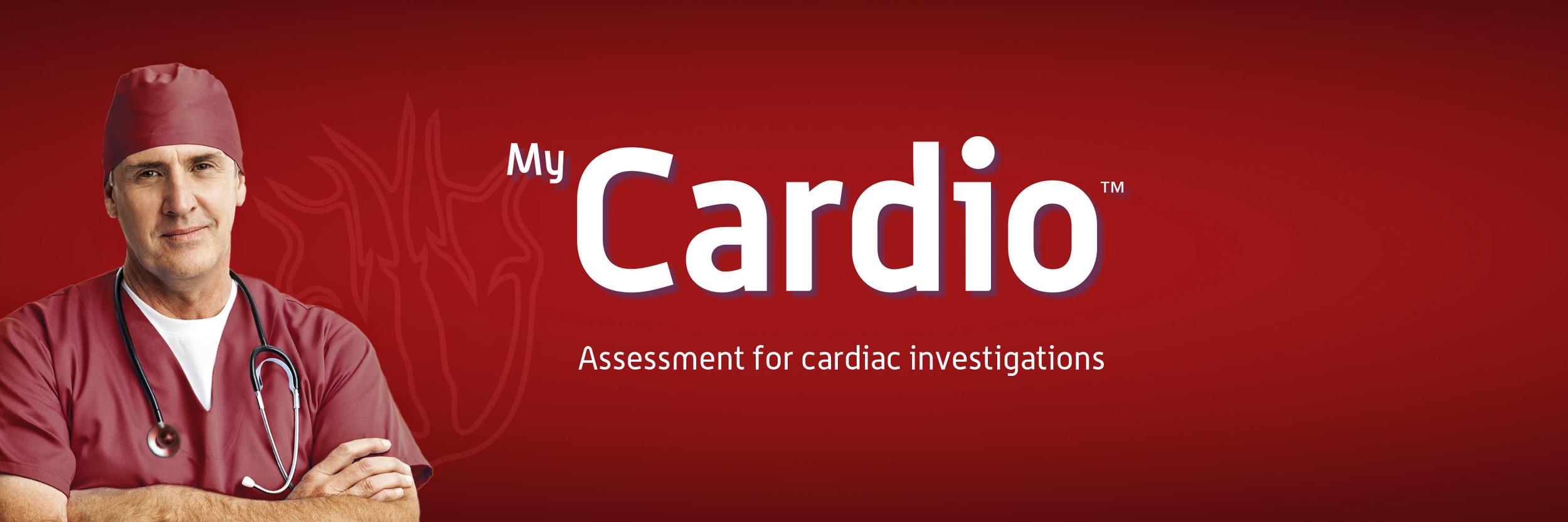 MyCardio banner, assessment for cardiac procedures