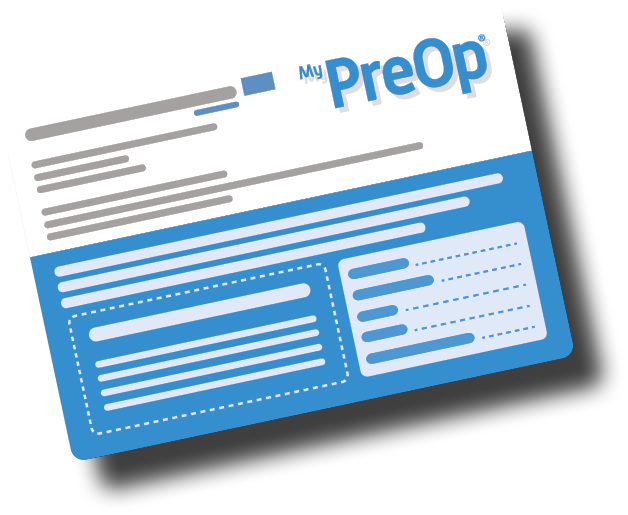 Example of MyPreOp Patient Card