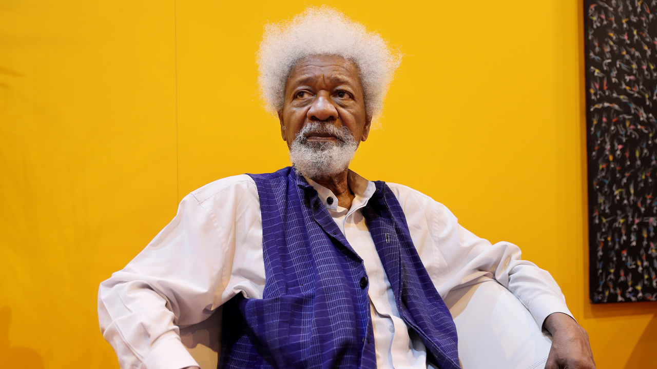 Soyinka is an incarnation of Shango - the Yoruba God of Lightning