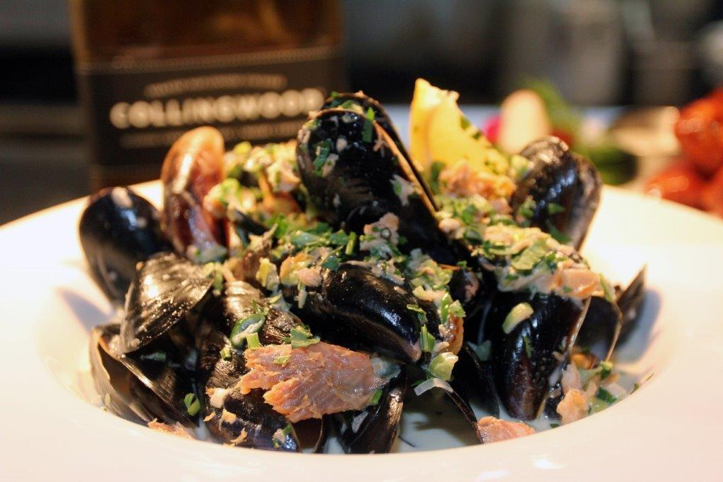 Smoked Trout & Collingwood Whisky Cream Mussels